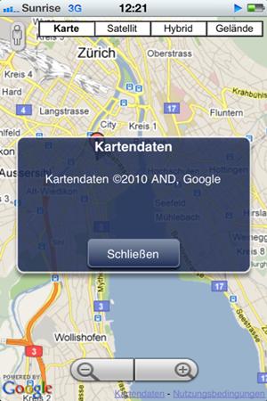 Die neuen Basisdaten für Google Maps