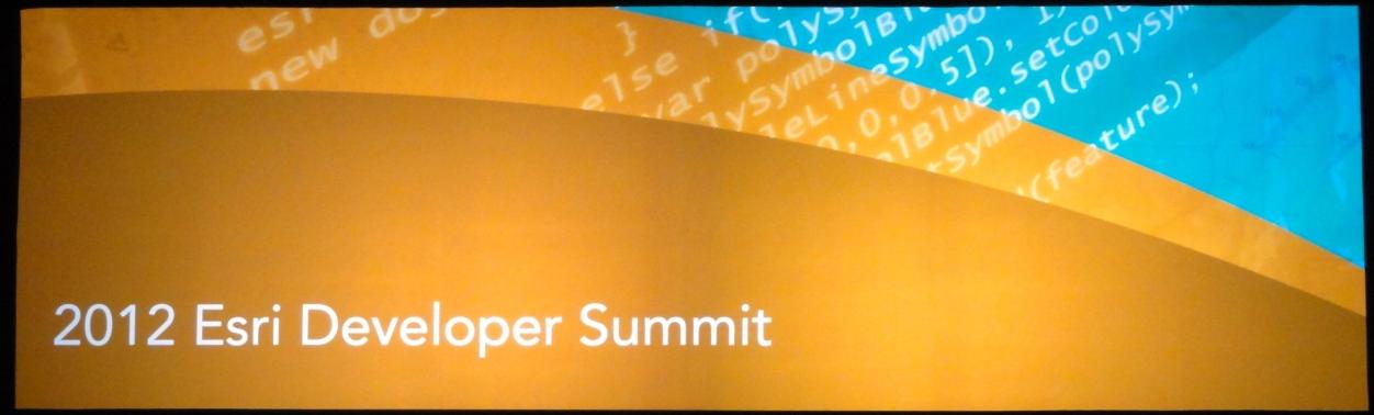 Esri Developer Summit 2012